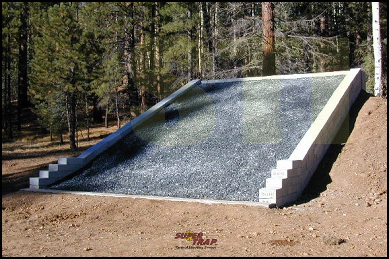 Diy shooting backstop do it your self diy for Outdoor shooting range design plans